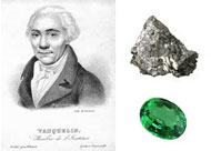 Louis Nicolas Vauquelin discovered beryllium in the oxide form in both beryl and emeralds in 1798. Beryllium is a gray-white metal.