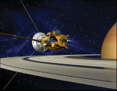 Pu-238 powers the Cassini Mission now orbiting Saturn. (NASA)