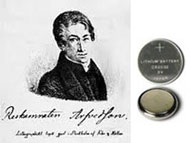 Johan August Arfwedson discovered lithium in 1817 (Wikipedia image). Lithium batteries have lithium metal or lithium compounds as an anode.